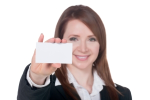 Always have a card ready when a networking opportunity arises.